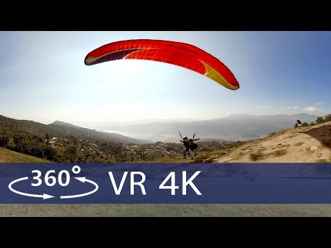 Paragliding near the Himalayas in 360 / VR (Royal Mountain Travel Nepal)