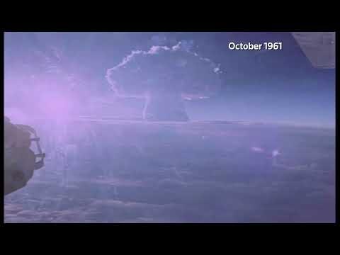Russia releases secret footage of 1961 Tsar Bomba hydrogen blast