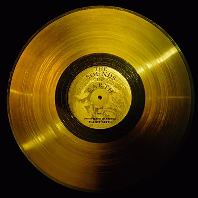 """The Sounds of Earth"" are recorded on Golden Records on board each of the Voyager Probes."