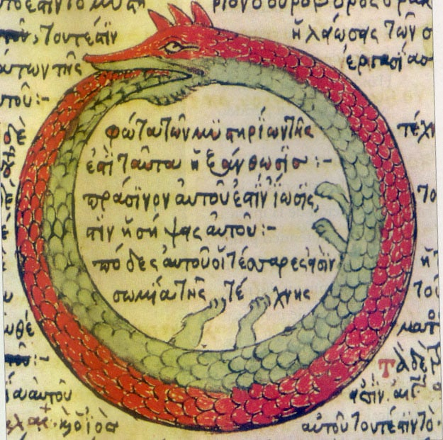 The Ouroboros, is an ancient symbol for eternal cycles of birth, life, death, and rebirth. Cosmic inflation implies our universe, and those in it, are subject to a similar cycle.