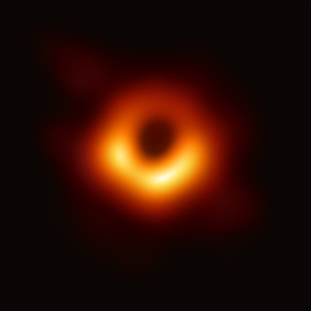 The black hole M87* sits at the center of the M87 Galaxy. Image Credit: Event Horizon Telescope