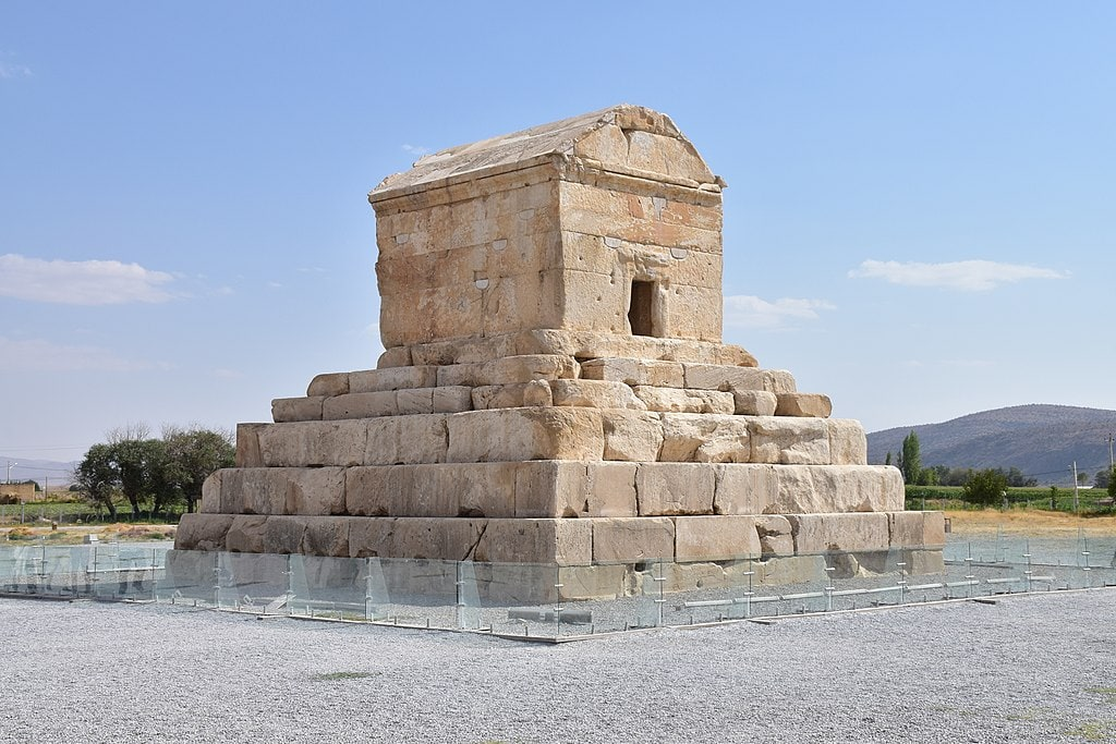 The Tomb of Cyrus the Great, who established the First Persian Empire around 700 B.C.