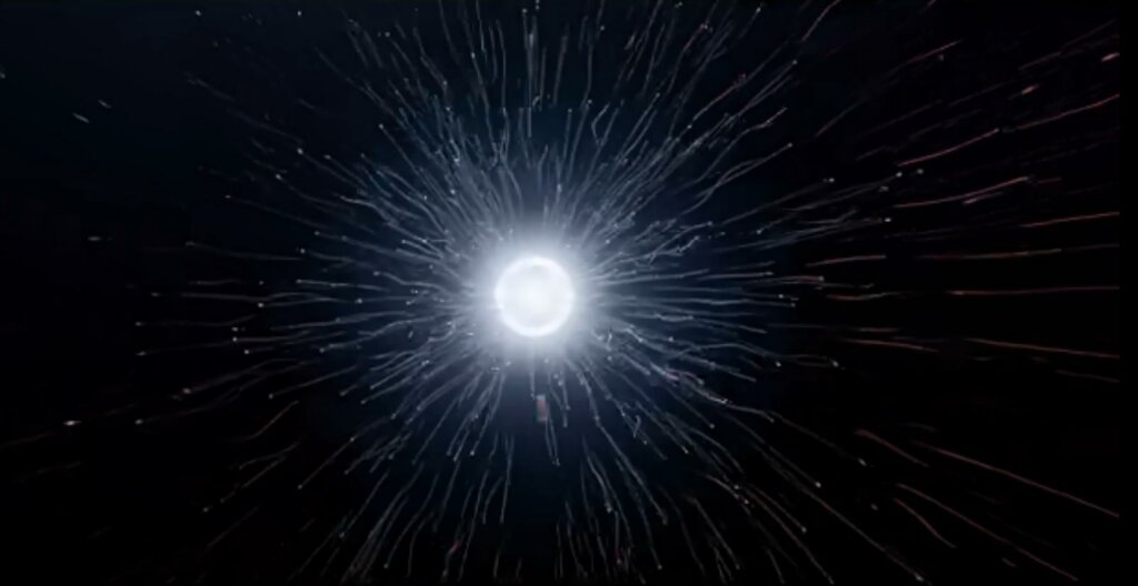 """Some day, <span class='""""katex-eq""""' data-katex-display=""""false"""">10^{100}</span> years from now, the last black hole will evaporate in a shower of subatomic particles. Will all of existence have been for naught? Image Credit: Timelapse of the future"""