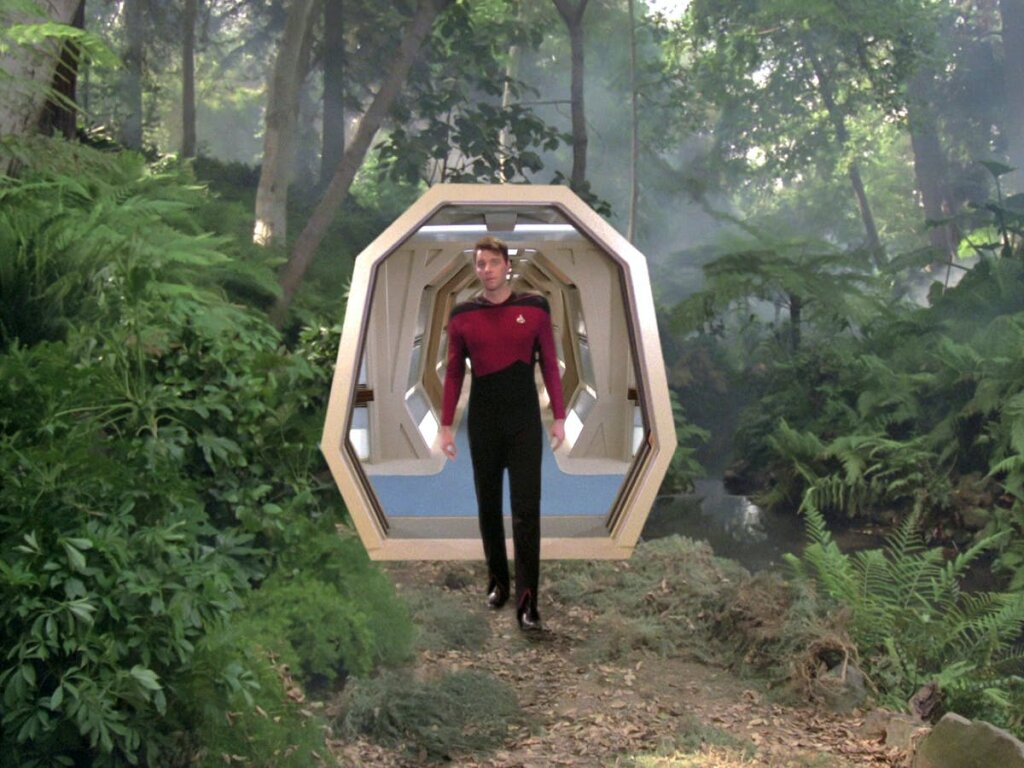 The holodeck is a technology, currently of science fiction, that is capable of simulating any imaginable environment. Today's virtual reality technology is primitive by comparison.
